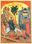 Θεοφάνης ο Κρης,Είσοδος στην Ιερουσαλήμ